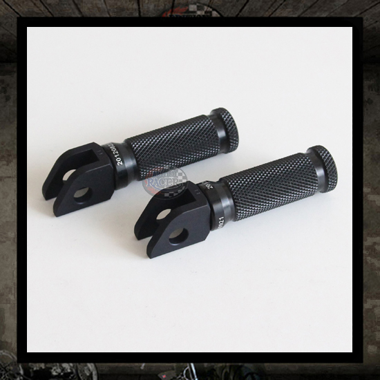 "LSL Racing black footpegs ""Front"" Triumph Legend"